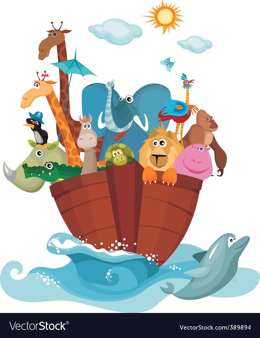 Noah's ark Royalty Free Vector Image - VectorStock
