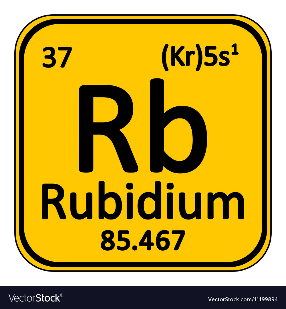 Periodic table element rybidium icon