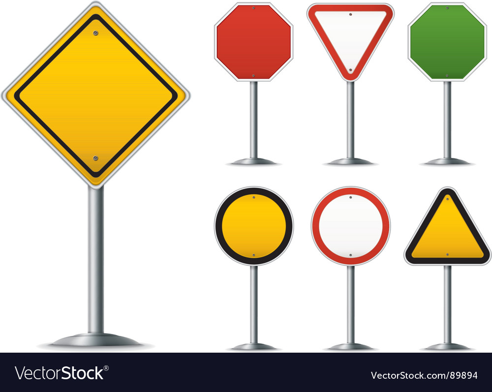 Traffic sign set vector image