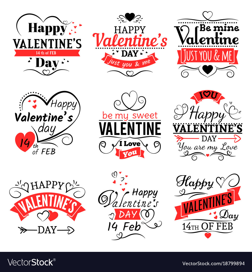 Vintage valentines day banners for love