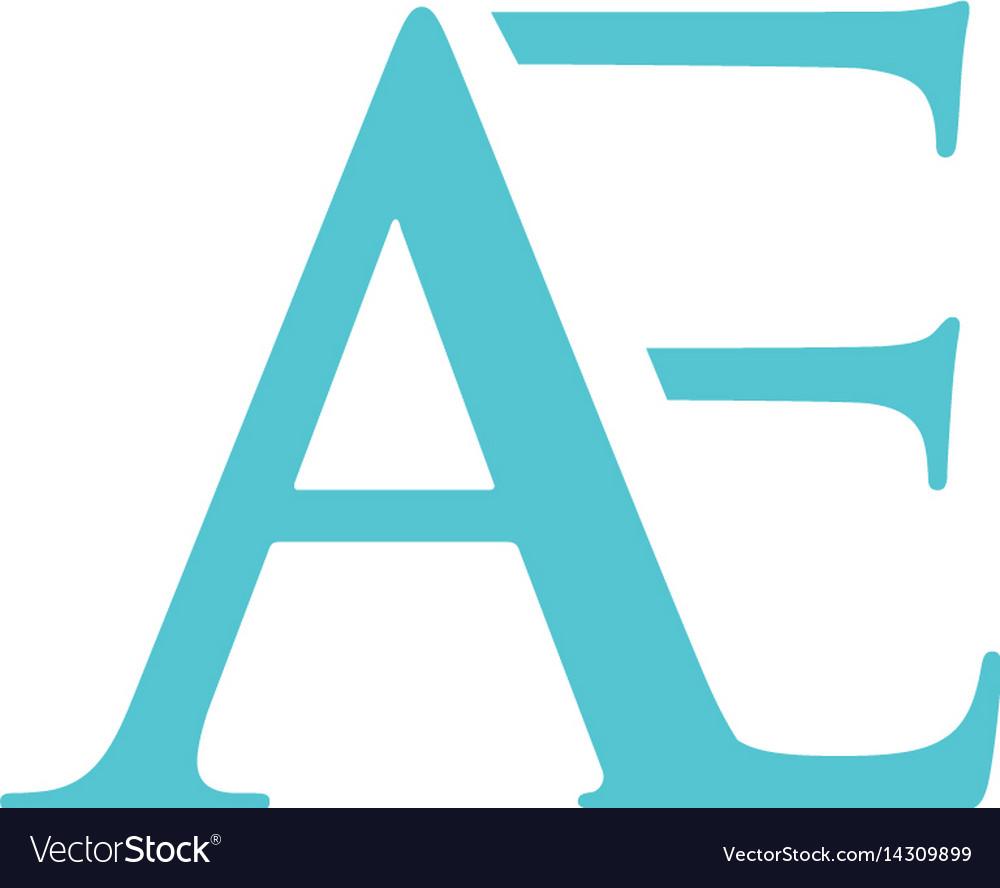 Ae letter logo vector image