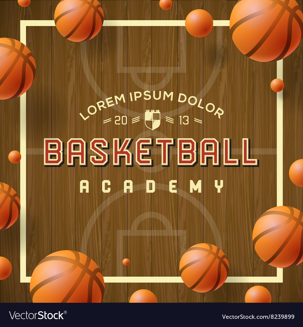 Basketball academy flyer or poster