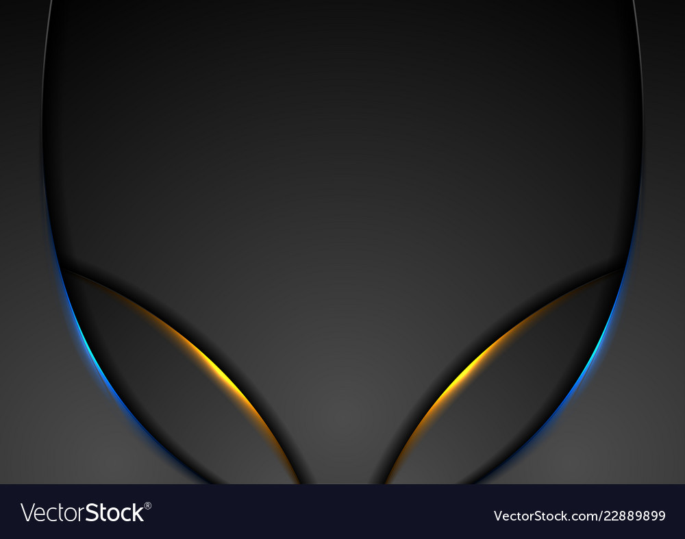 Blue and orange glowing lights abstract wavy