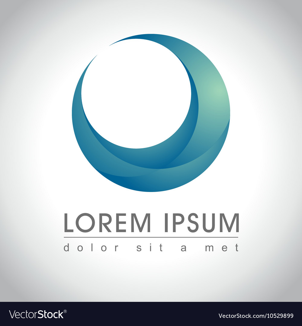 Blue round logo