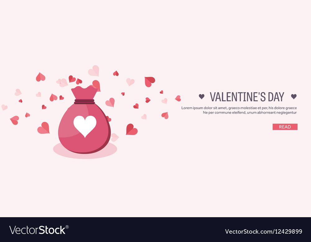Flat background with bag vector image