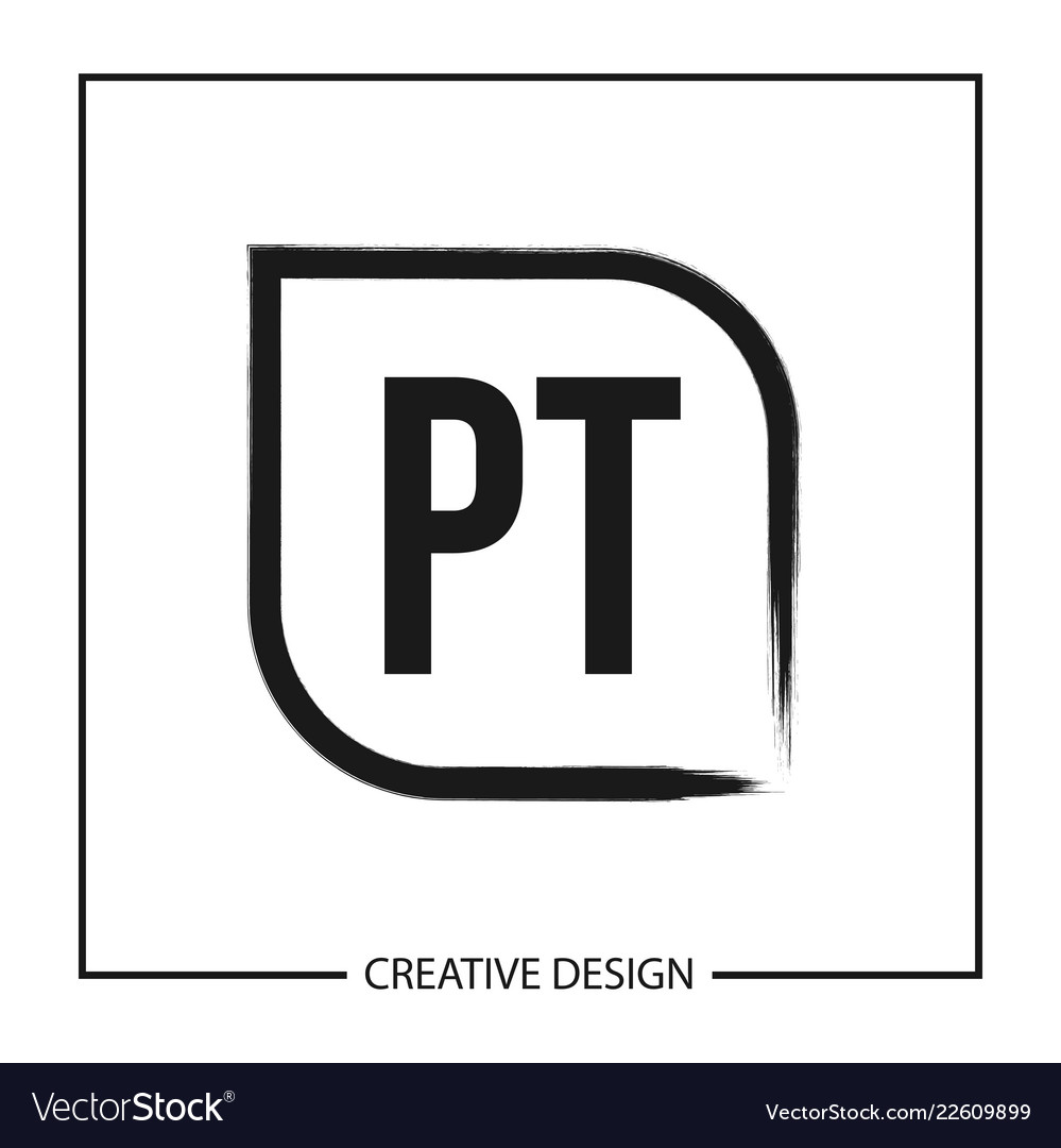 initial pt letter logo template design royalty free vector