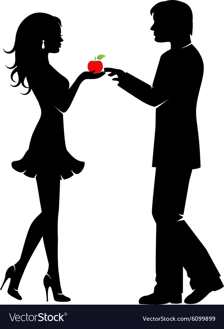 Man woman and the forbidden fruit
