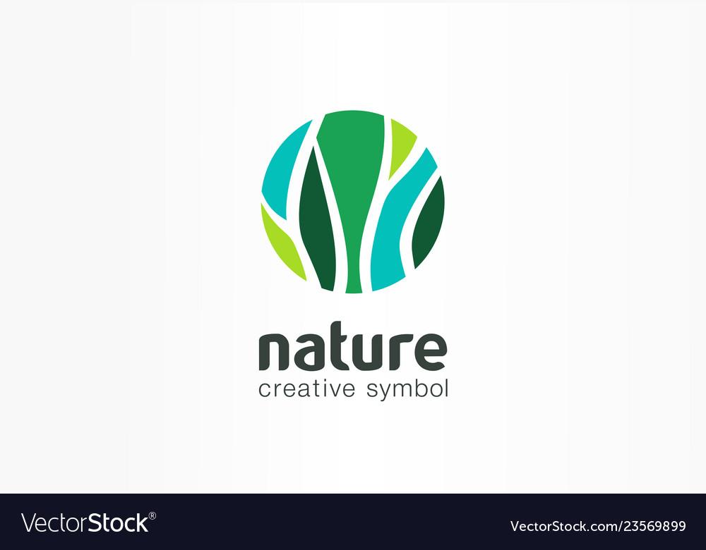 Nature creative symbol organic concept bio herbal