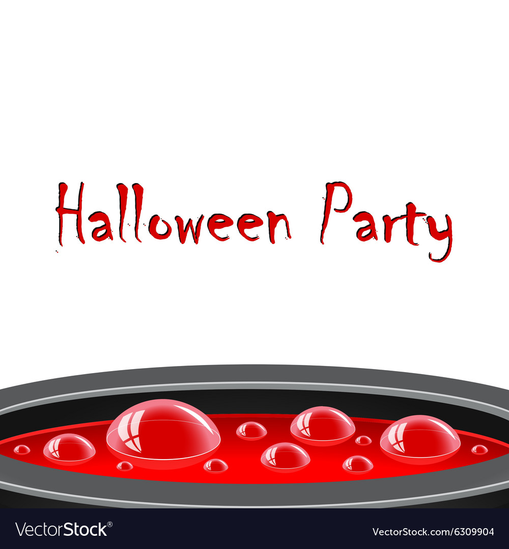 Halloween card with red potion vector image