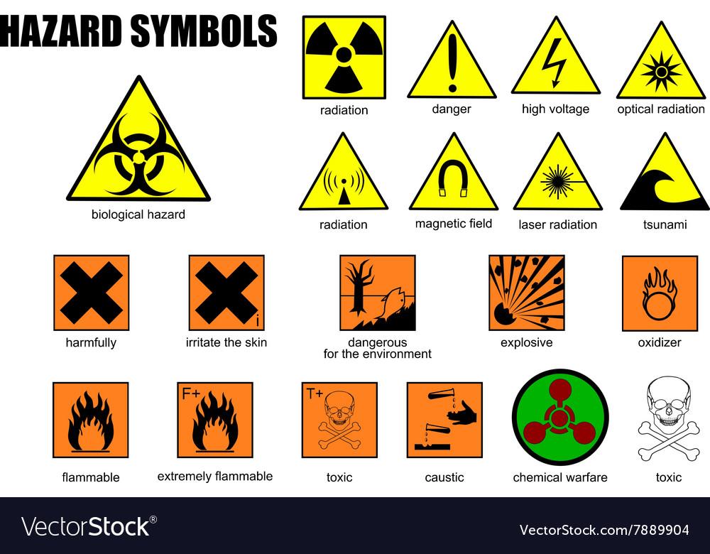 International Symbols Of Danger Royalty Free Vector Image