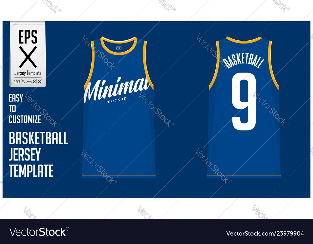 Minimal Basketball Uniform Template Design Vector Image