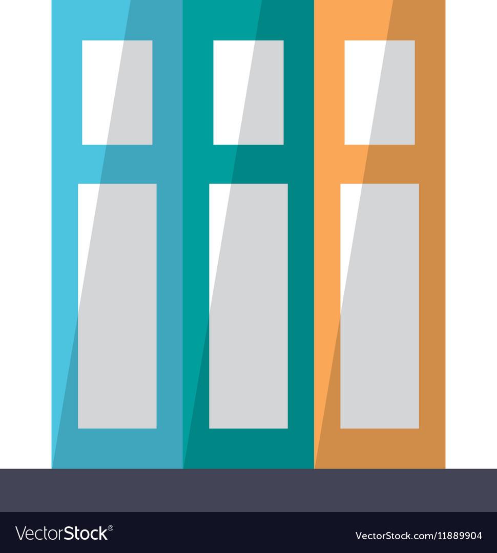 Set book folder office elements design