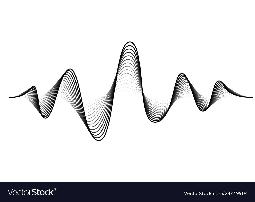 Sound wave background audio music