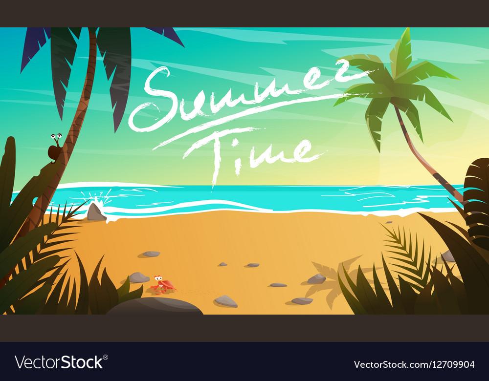 Summertime cartoon