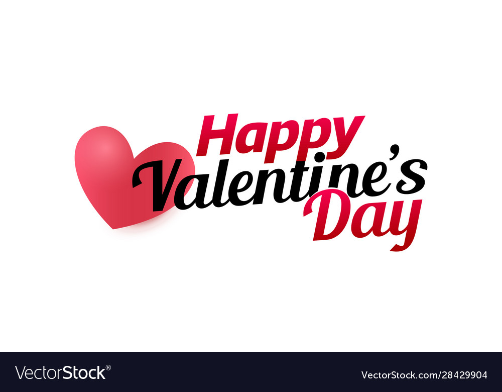 Valetines day logo template for greeting card