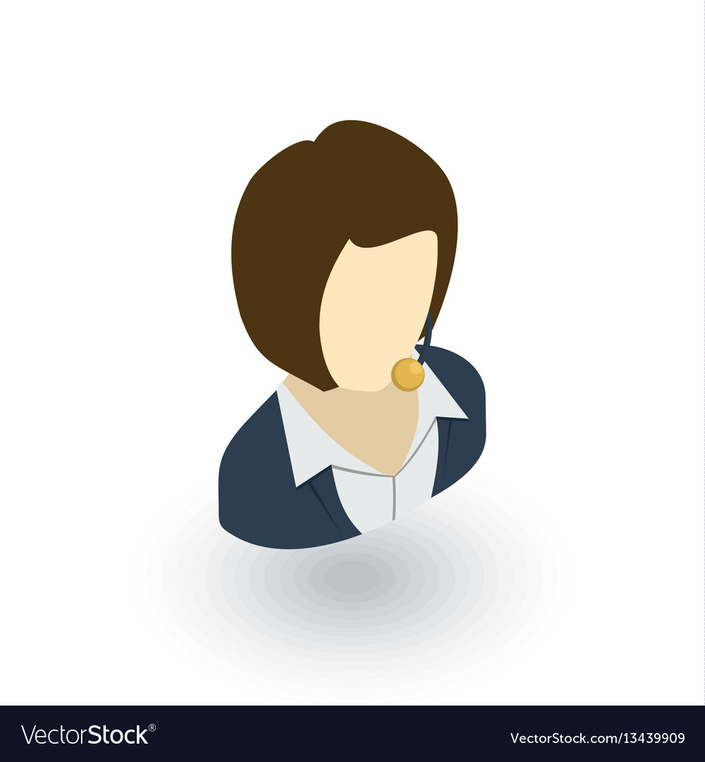 Avatar businesswoman isometric flat icon 3d