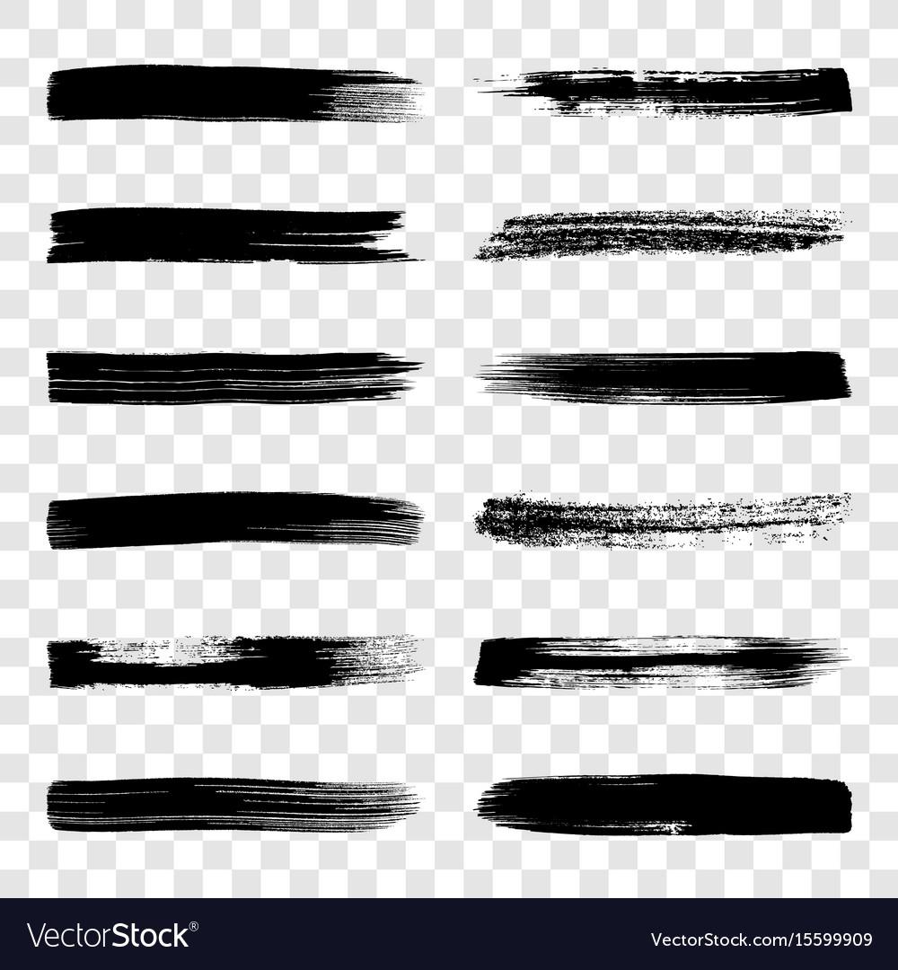Different art brush strokes