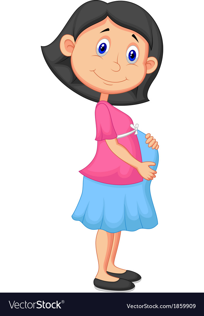 Pregnant woman cartoon