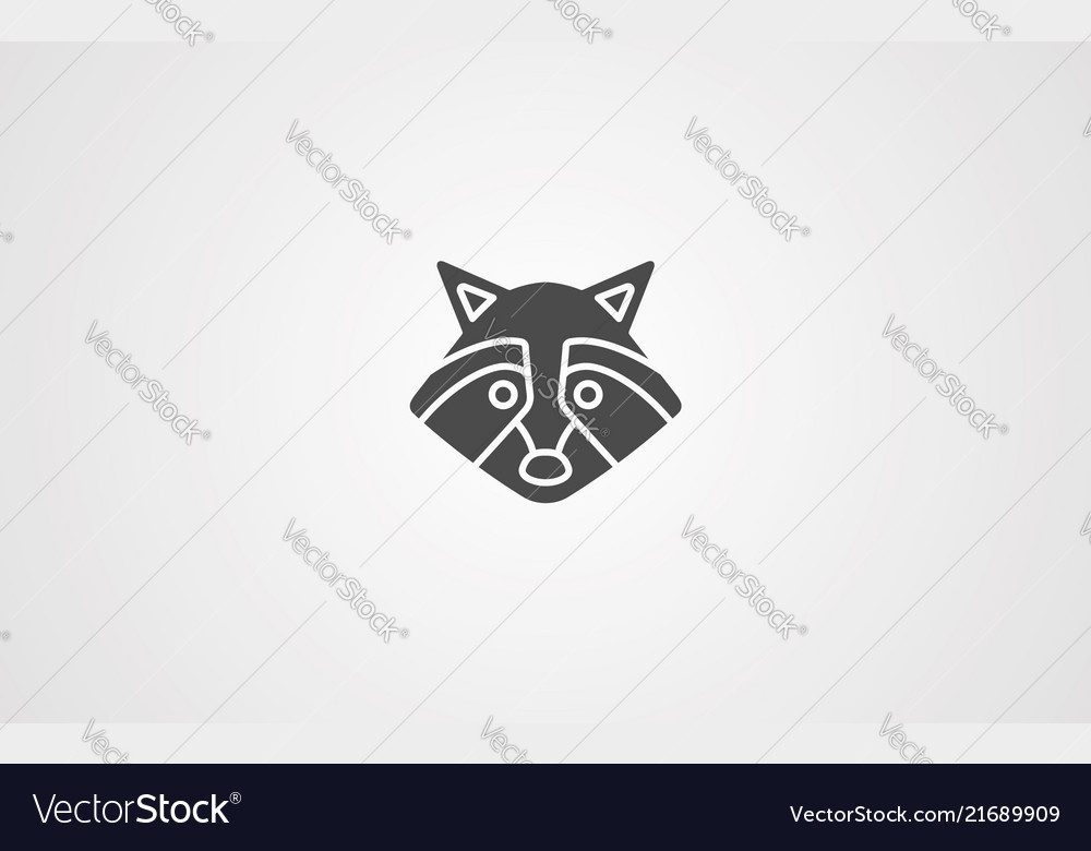 Racoon icon sign symbol