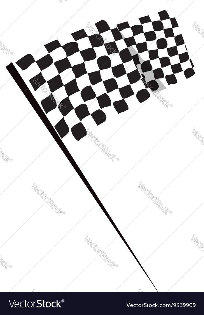 Waving racing finish flag icon