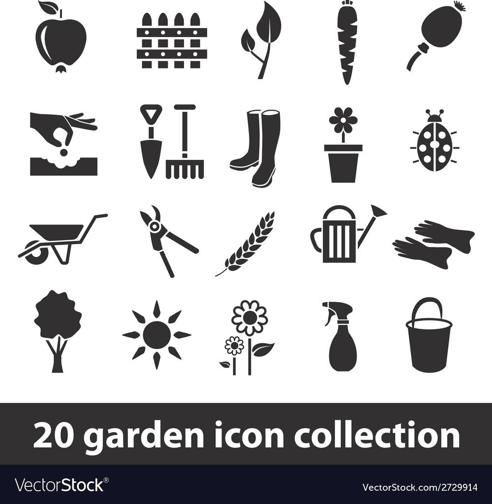 20 garden icon collection