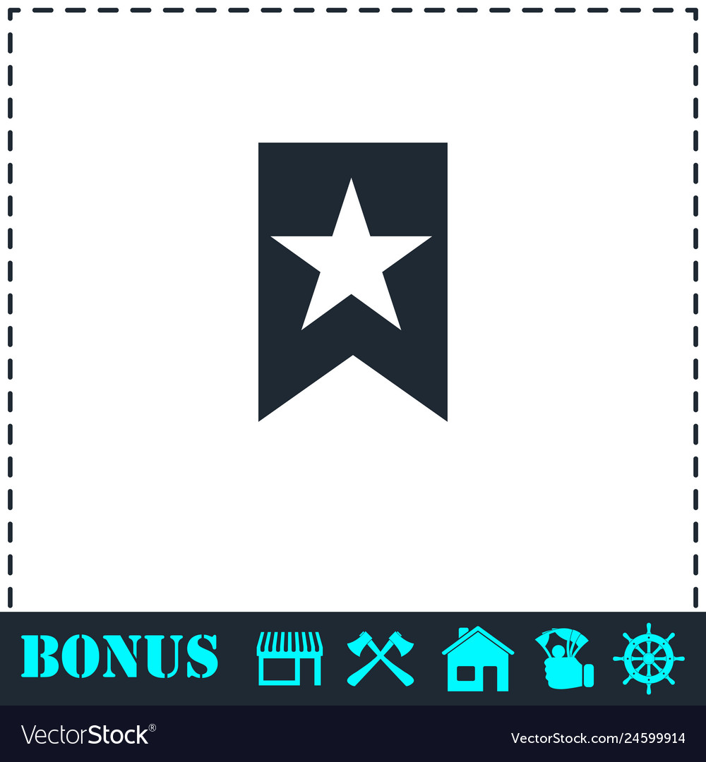 Bookmark icon flat