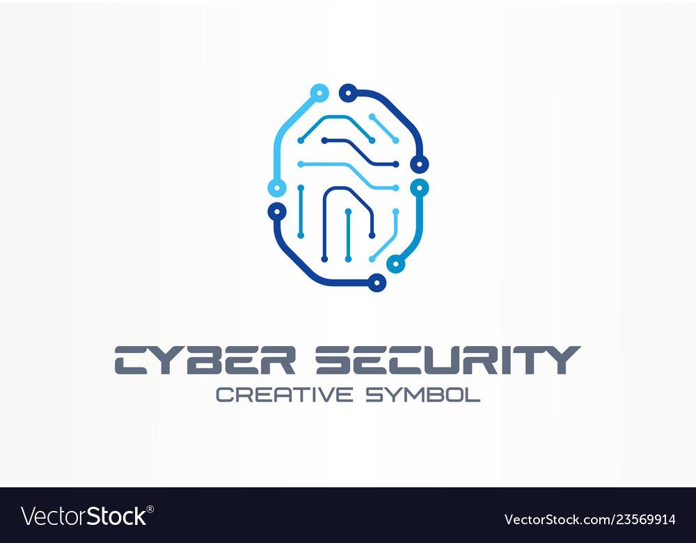 Cyber security creative symbol concept digital