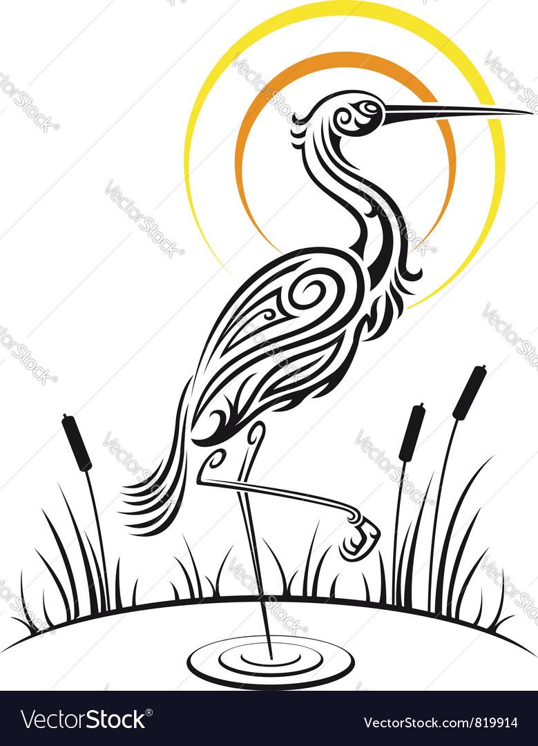 Heron Bird Background vector image