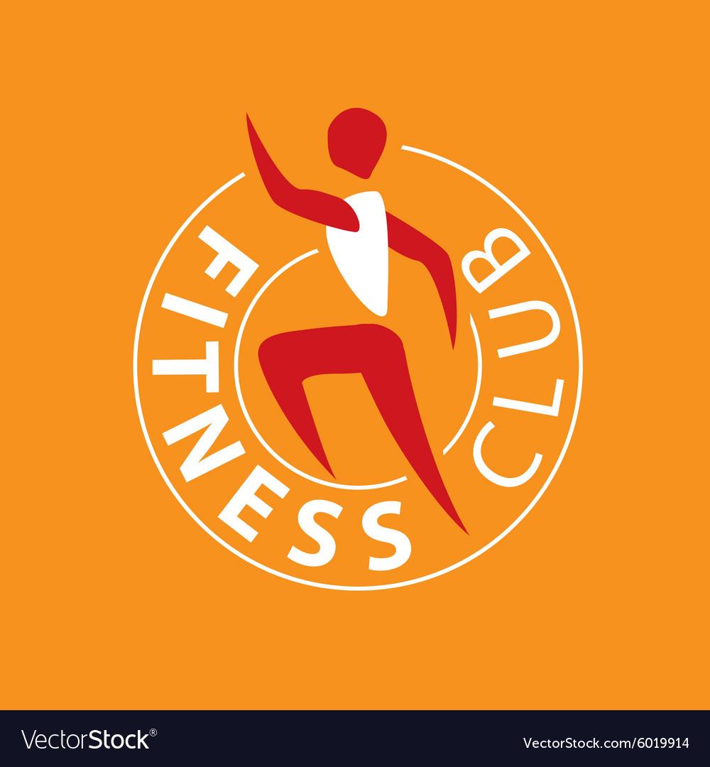 Logo man running for fitness club