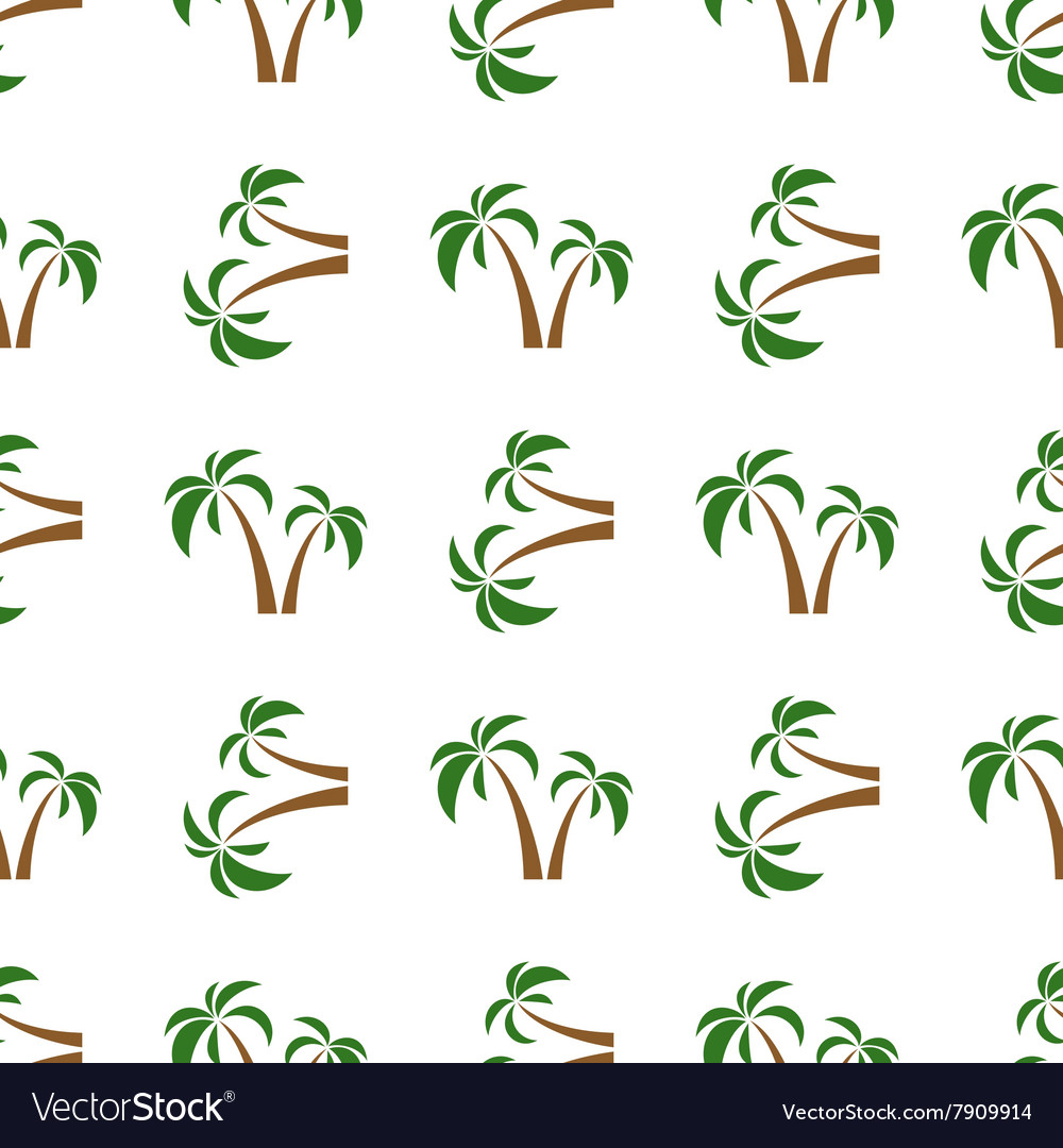 Palms seamless isolated
