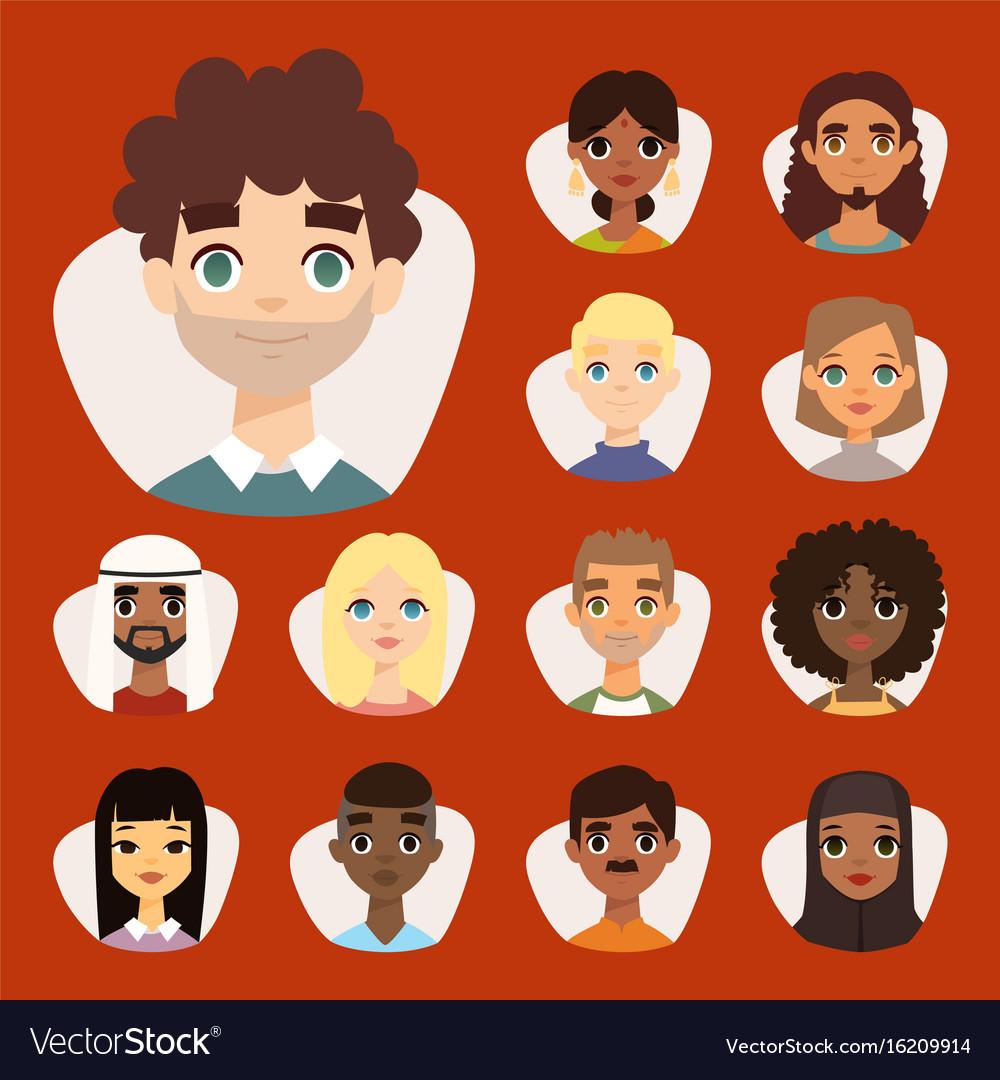 картинки лиц только лиц разных национальностей