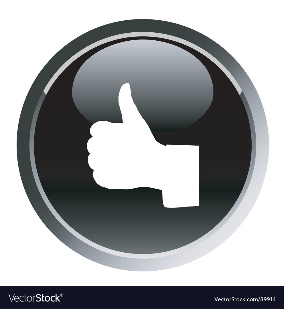 Thumb up sign round button