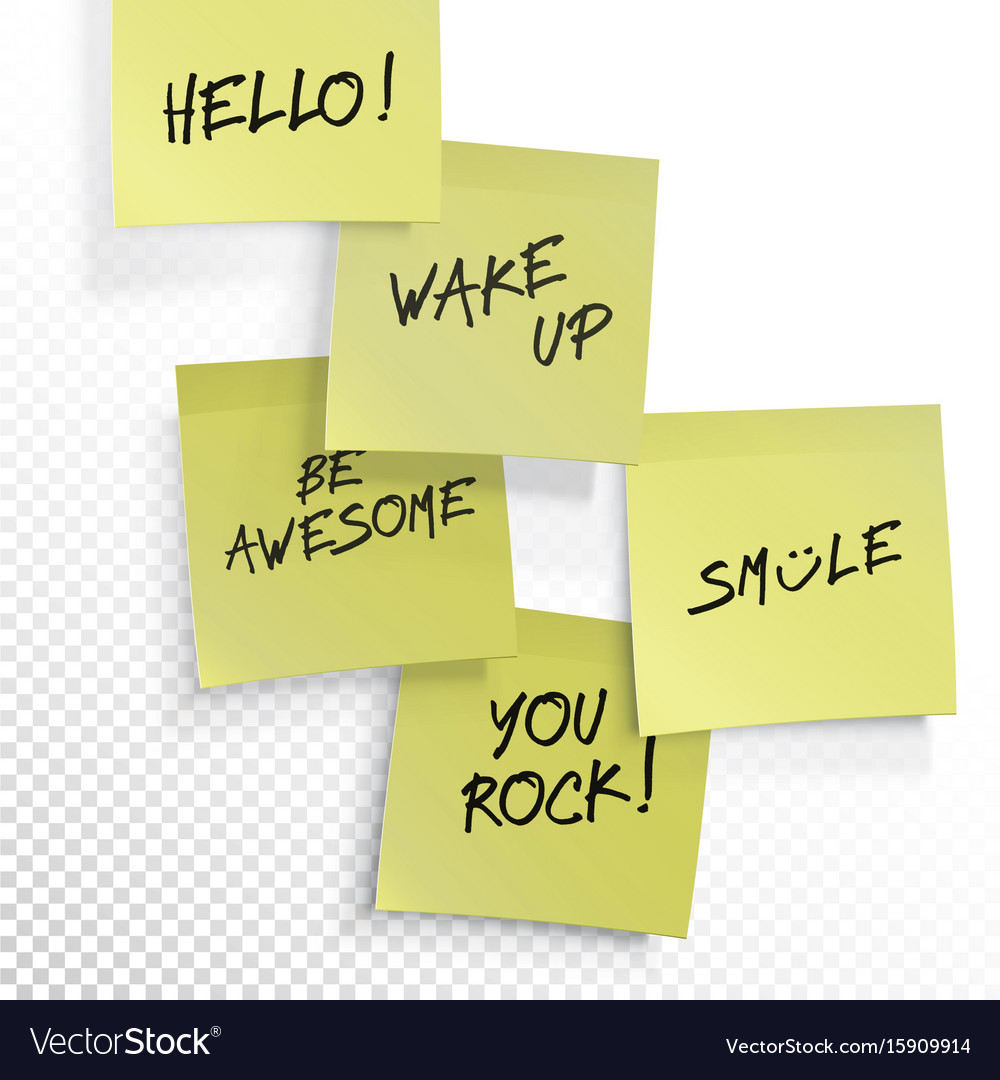 Wake up be awesome hello smile you rock - set of vector image