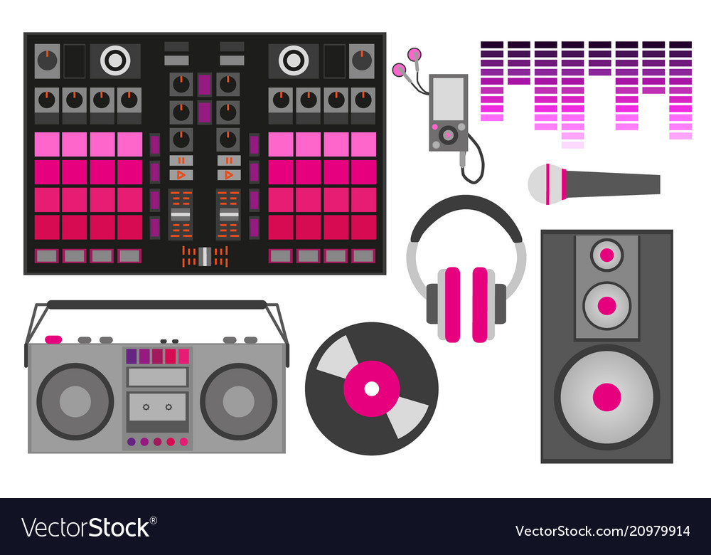 With pink dj accessories dj