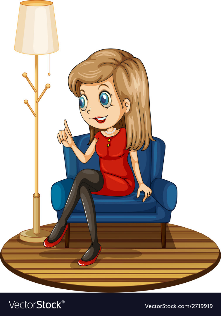 Fine A Girl Sitting At The Blue Couch Squirreltailoven Fun Painted Chair Ideas Images Squirreltailovenorg
