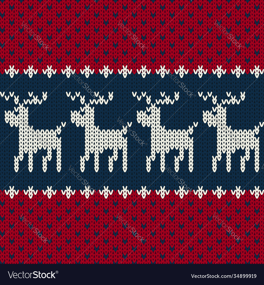 Christmas seamless knitted pattern background