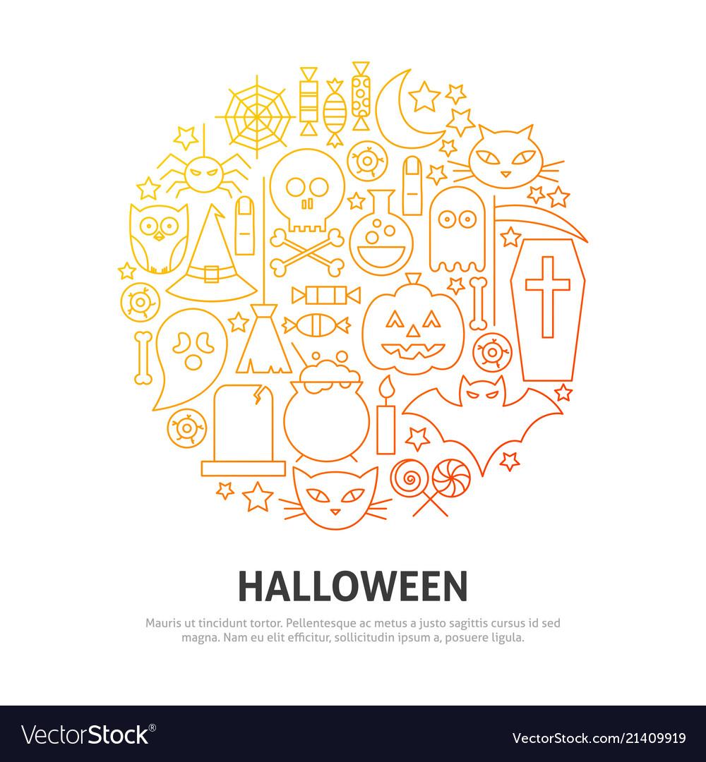 Halloween circle concept