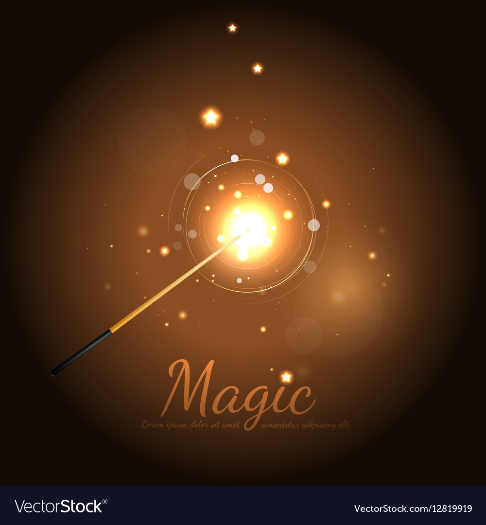 Magic Wand Background With Stars