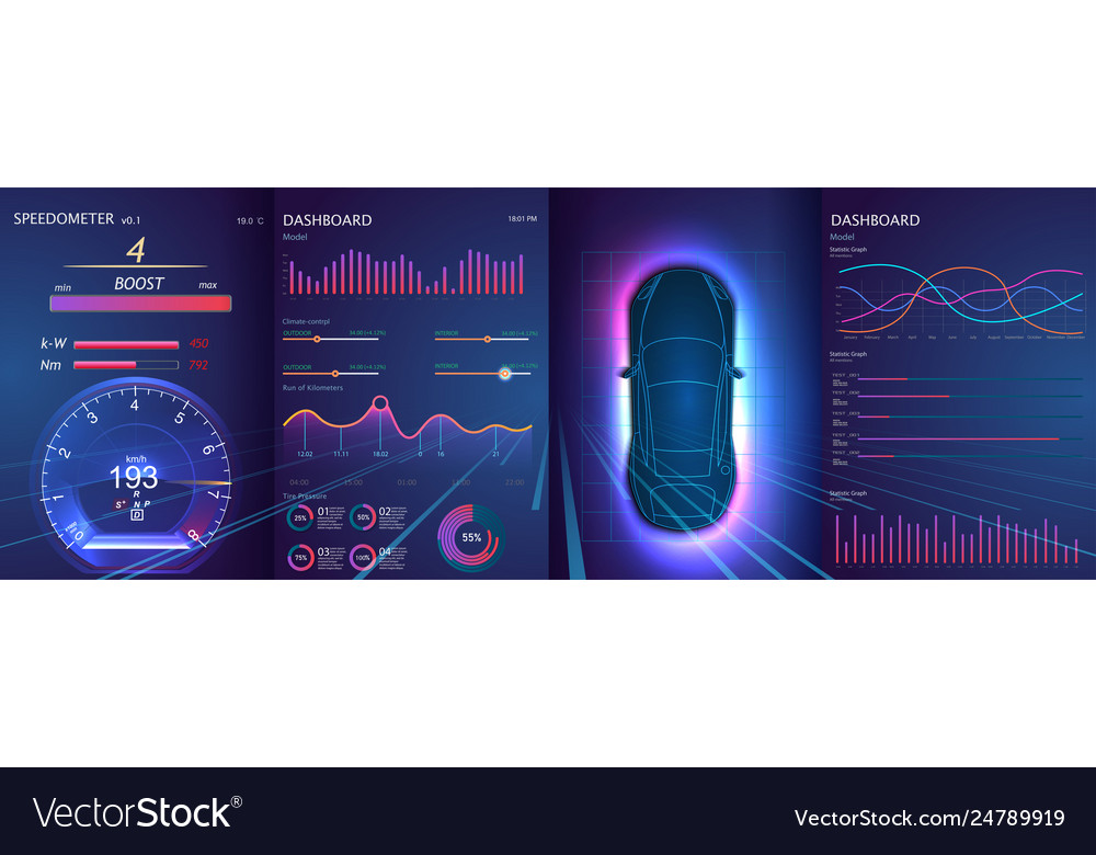 Modern application elements for car great hud