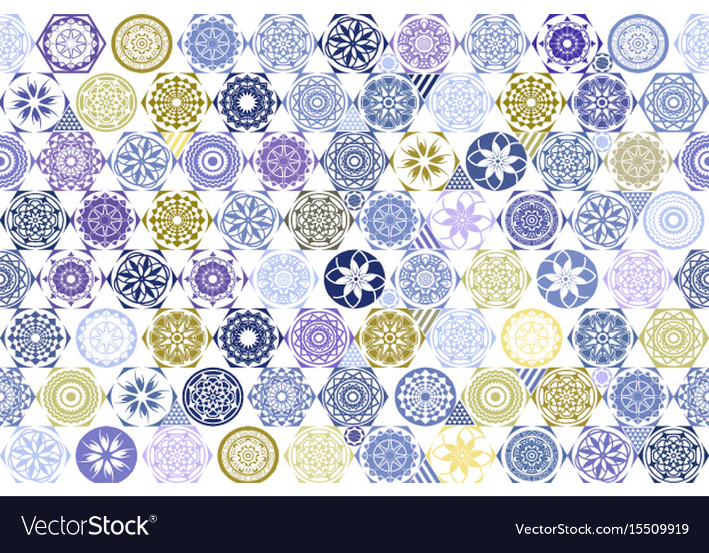 Seamless patchwork tile with victorian motives in vector image
