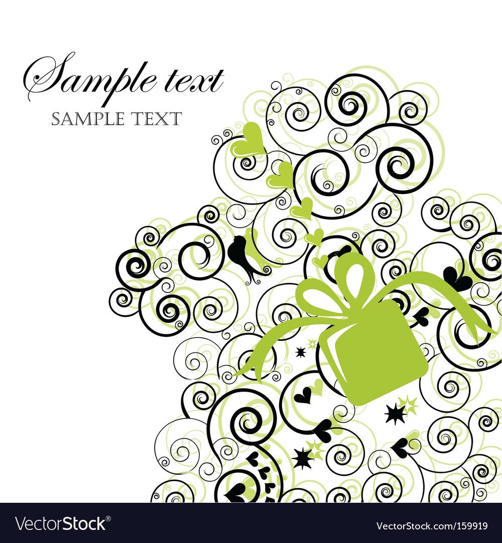 Swirly background vector image
