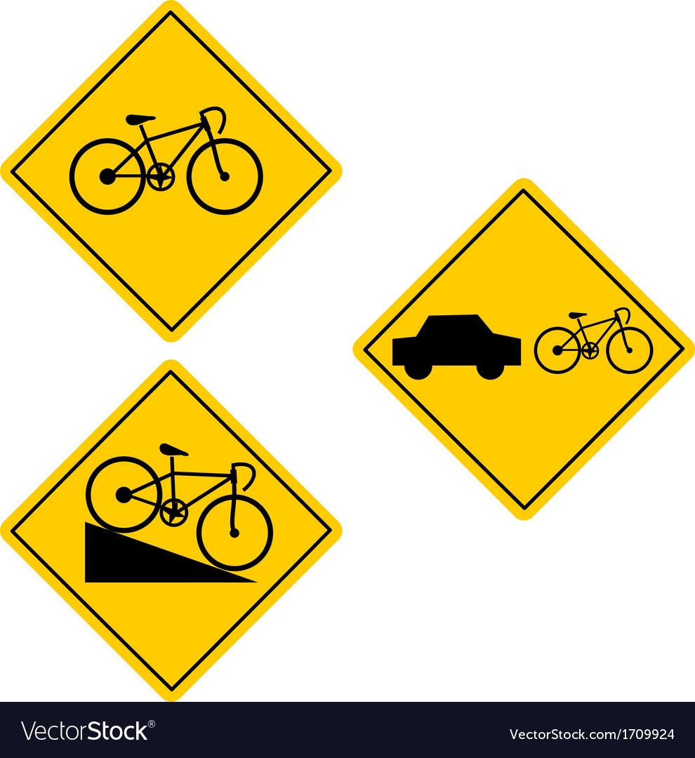 Bicycle Road Sign Symbol