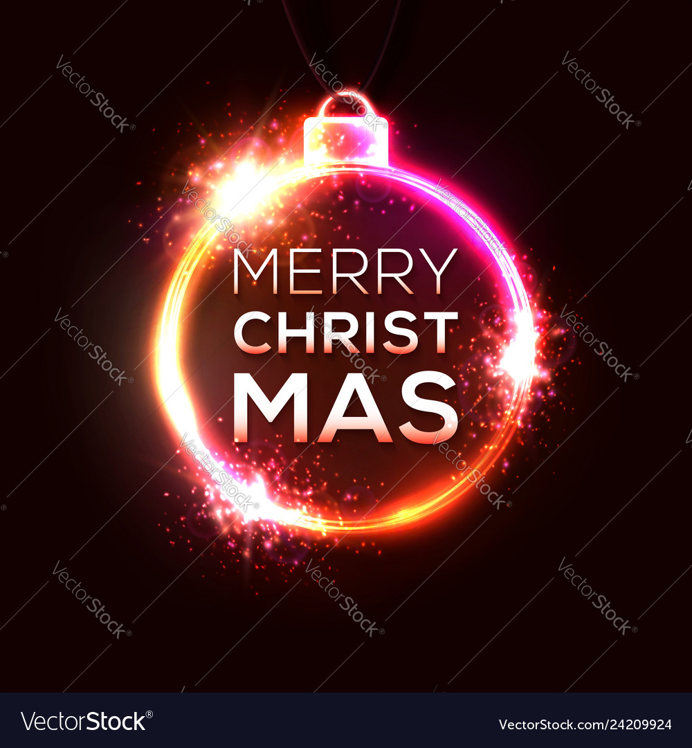 Christmas neon sign bright