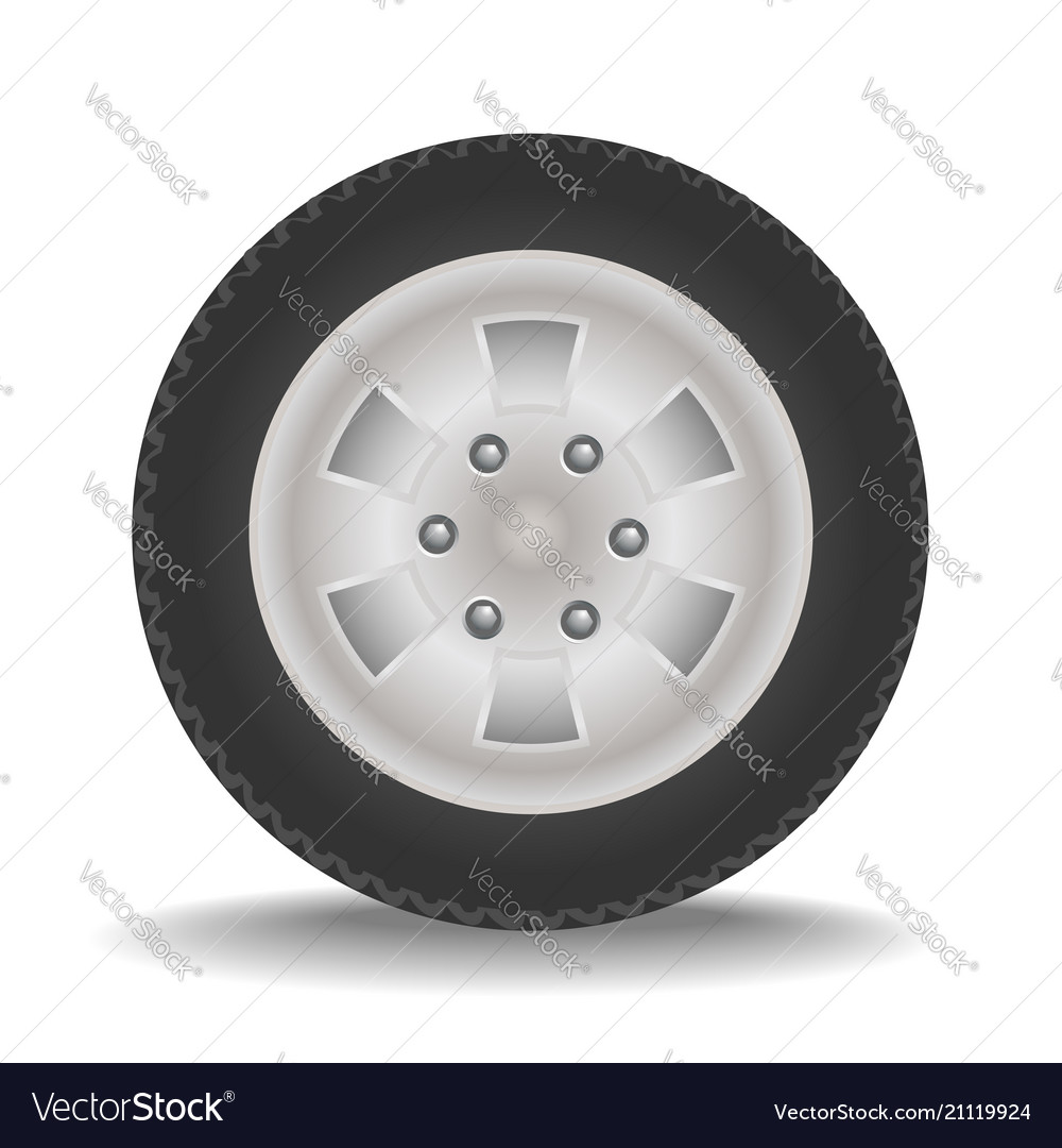 Drawing Car Wheel Royalty Free Vector Image Vectorstock