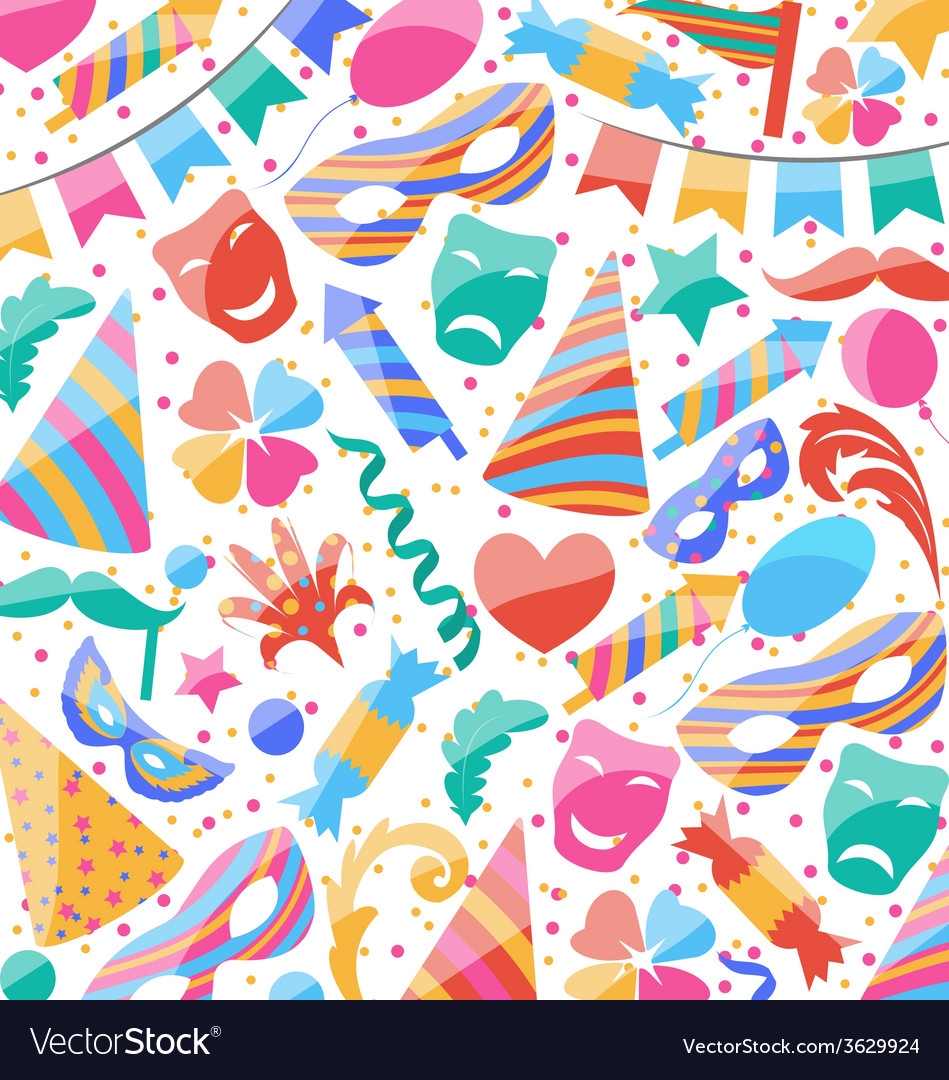 festive wallpaper with carnival and party colorful
