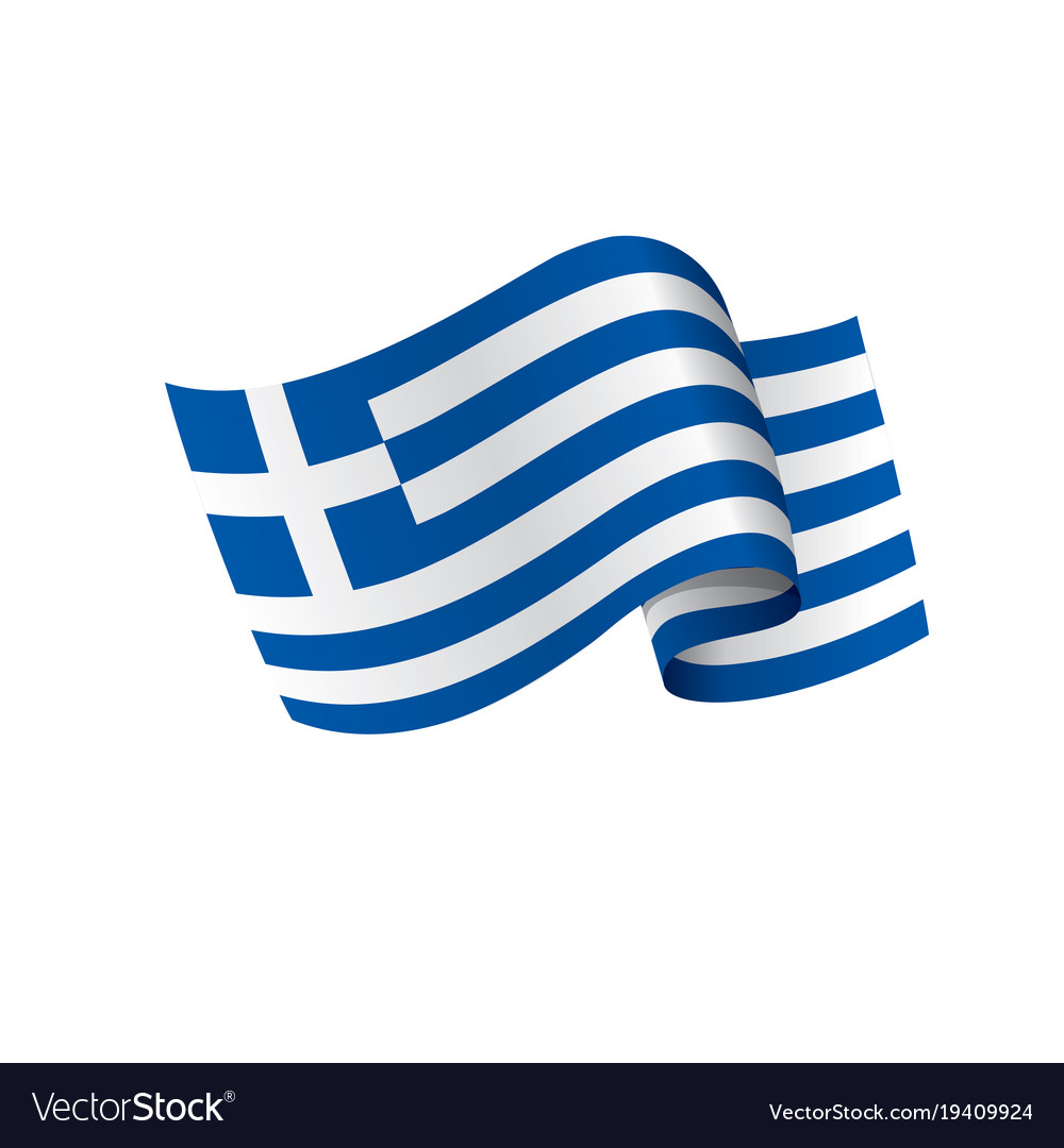 Greece flag Royalty Free Vector Image   VectorStock