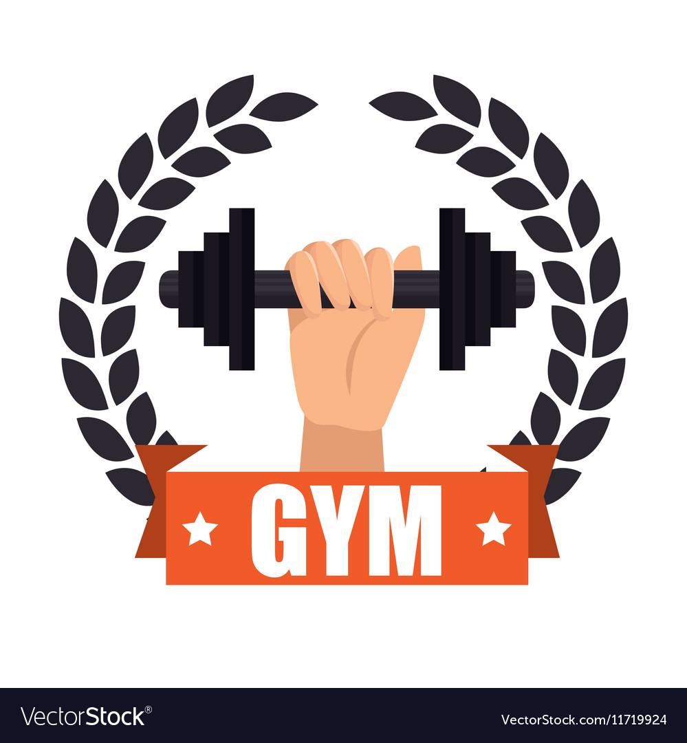 Gym badge sport label design