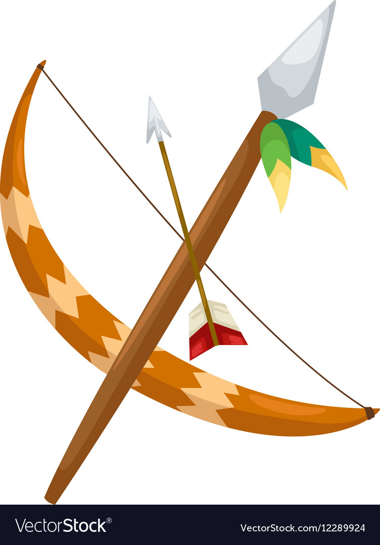 Indian archer vector image