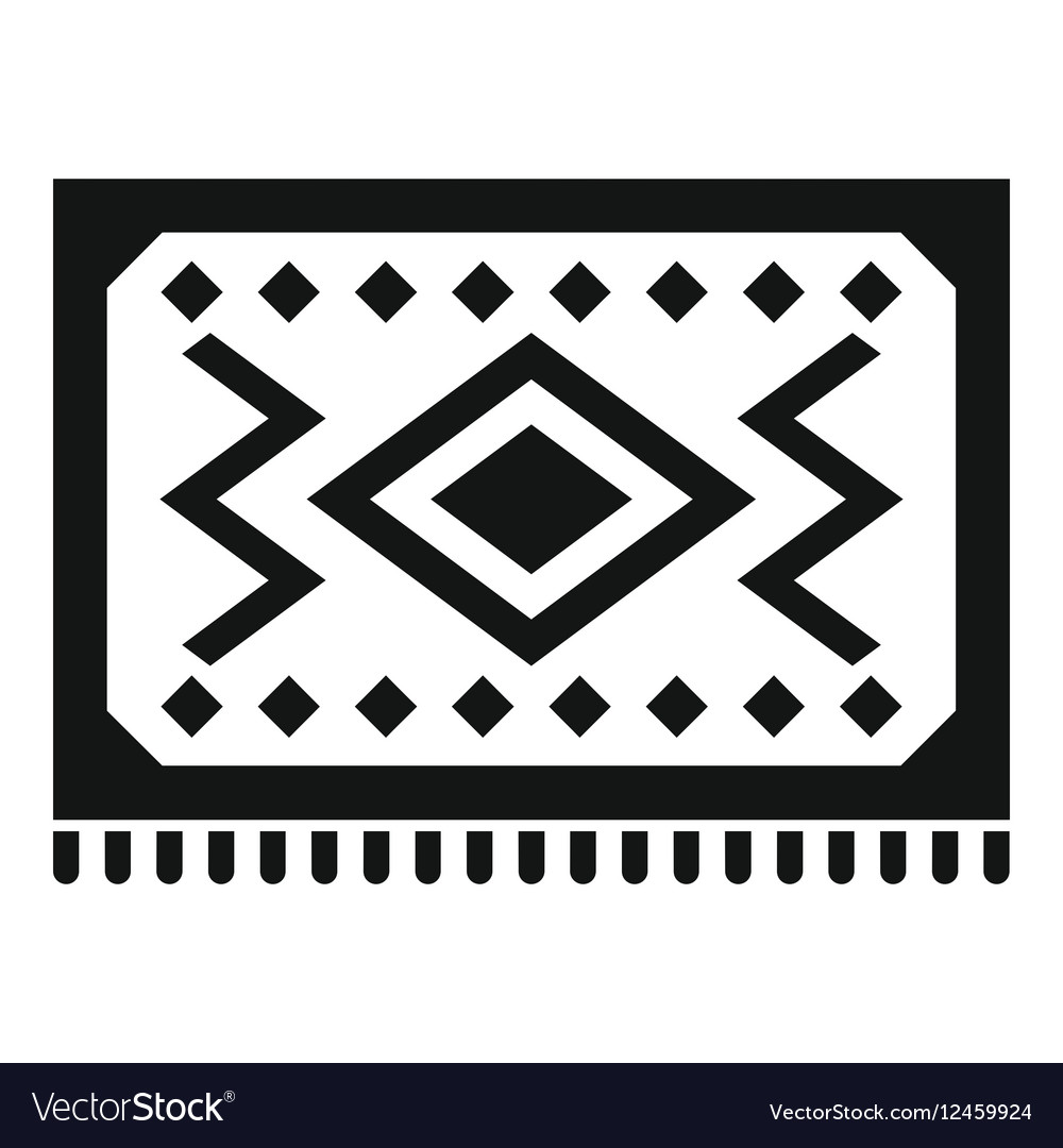 Turkish Carpet Icon Simple Style Vector Image