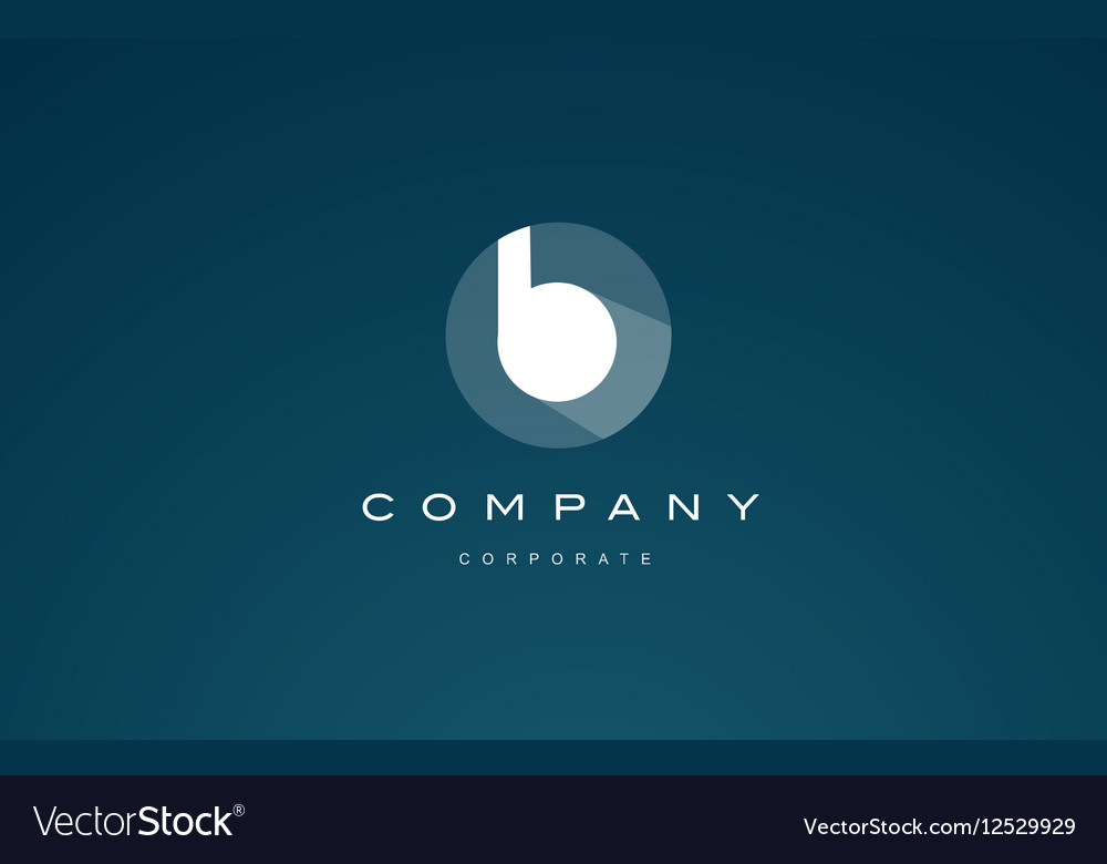 Alphabet blue letter small b logo icon